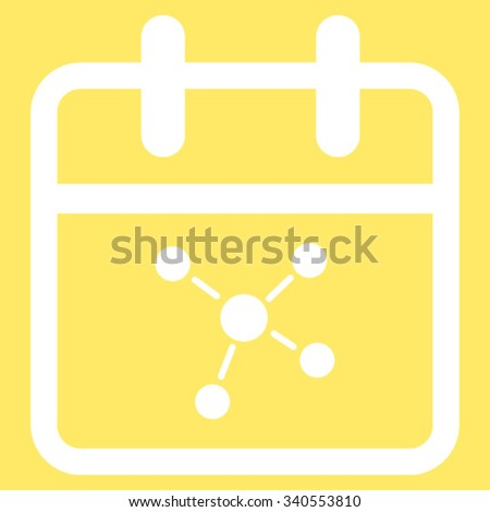 Scheme Day vector icon. Style is flat symbol, white color, rounded angles, yellow background. - stock vector