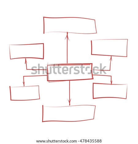 scheme template formed of rectangles and arrows. vector illustration
