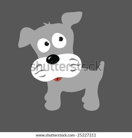 schnauzer puppy vector 2 (more dogs in portfolio) - stock vector