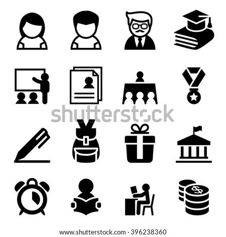 Scholarship , school , high school , University icon - stock vector