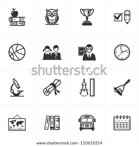 School and Education Icons - Set 3 - stock vector