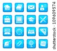 School and Education vector Icon Set for web and mobile. All elements are grouped. - stock