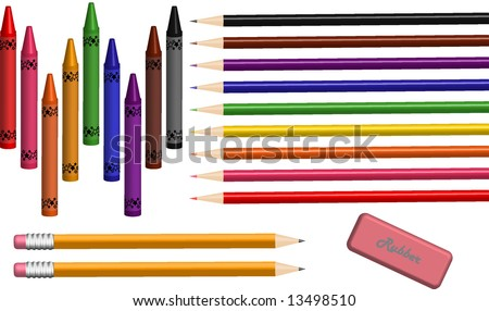 School/Art Supplies Vector