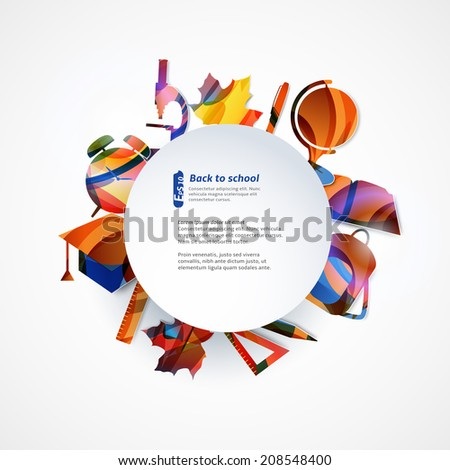 School background with place for your text - stock vector