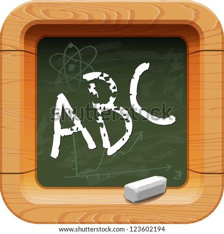 School blackboard icon - stock vector