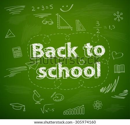 School board, back to school - stock vector