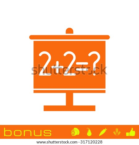 school board educations icon - stock vector