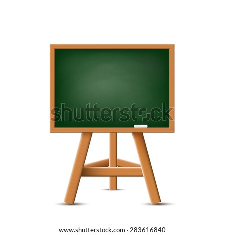 School board isolated on a white background. Stock Vector. - stock vector