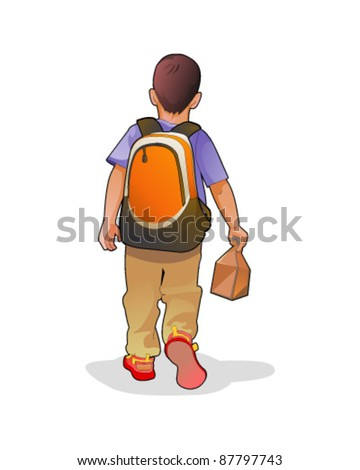 School boy - stock vector