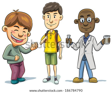 School Boys - stock vector