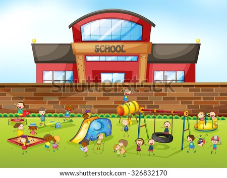 Playground Stock Photos Royalty Free Images Vectors Shutterstock