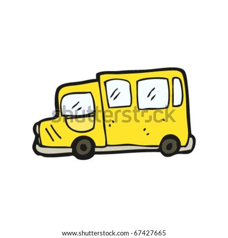 school bus cartoon - stock vector