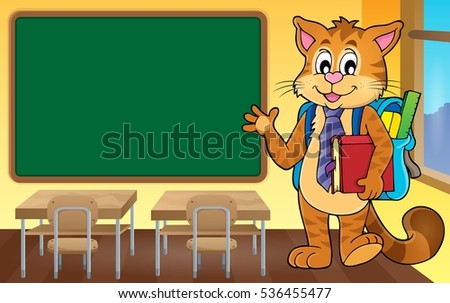 School cat theme image 4 - eps10 vector illustration.