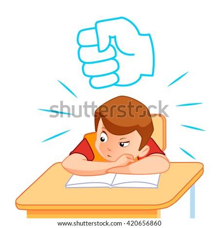 School children in classroom at lesson - stock vector