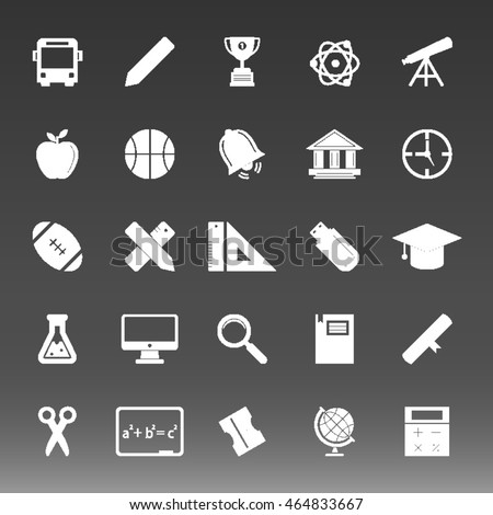 School College Education Icons Set Vector Illustration