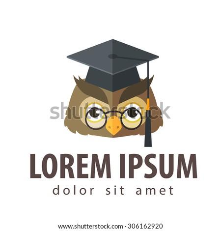 school, college, university vector logo design template. education, schooling or owl icon - stock vector