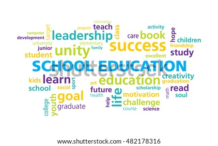 School Education Word Cloud Vector Template Stock Vector HD (Royalty ...