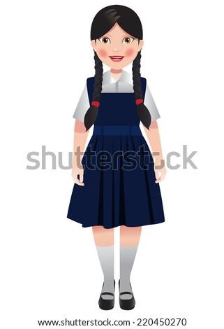 nood school girl photo