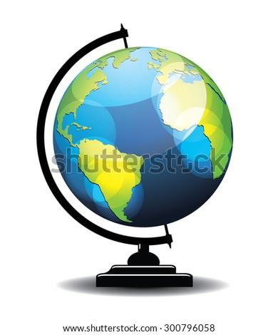 School globe illustration - stock vector