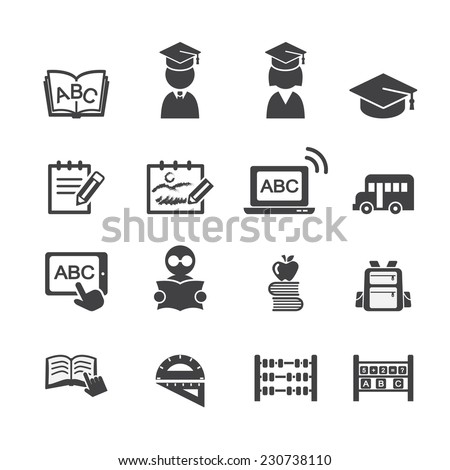 school icon - stock vector