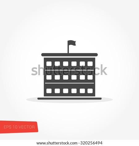 School Icon / School Icon Object / School Icon Picture / School Icon Image / School Icon Graphic / School Icon Art / School Icon JPG / School Icon JPEG / School Icon EPS / School Icon AI - stock vector