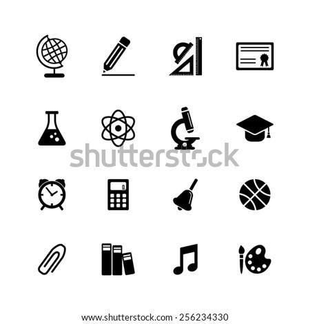 School icon set-EPS10 vector - stock vector