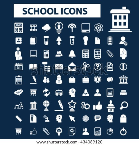school icons  - stock vector