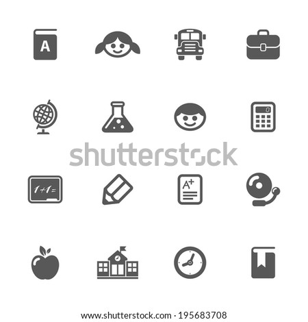 School icons, vector.