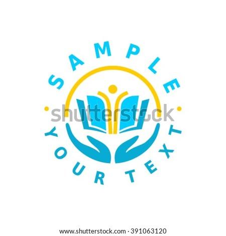 School logo design template. - stock vector