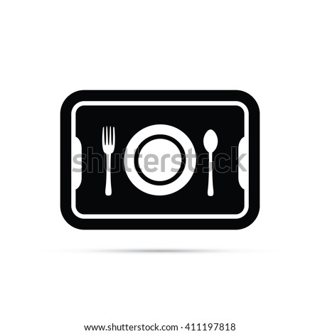 School Lunch Tray Icon - stock vector