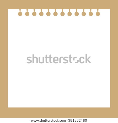 School notepaper. plain ripped holes, vector - stock vector