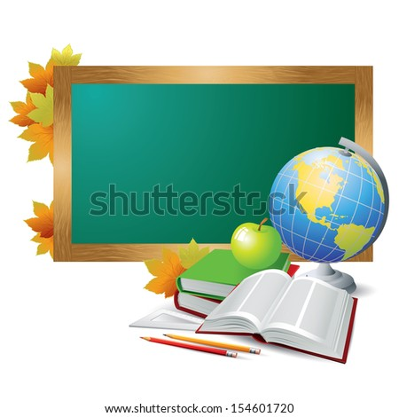 School objects. Vector illustration - stock vector