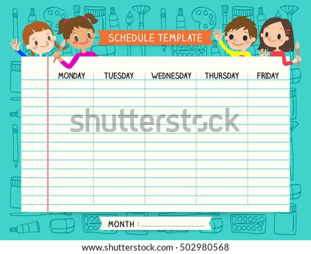 Class Schedule Stock Images, Royalty-Free Images & Vectors