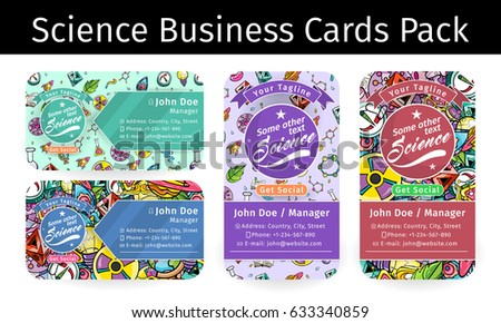 School science business cards pack molecules stock vector 2018 school science business cards pack with molecules and bacteria texture pattern vector art design illustration colourmoves Image collections