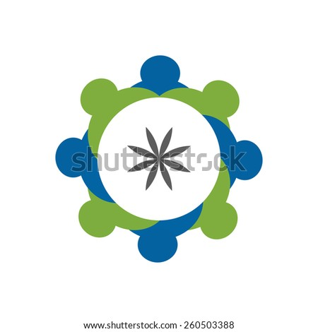 school students showing companionship and friendship vector. The graphic can also represent employees unity, workers union, executives meeting, friendship, team work & team spirit - stock vector