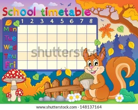 School Timetable Images RoyaltyFree Images Vectors – Class Timetable