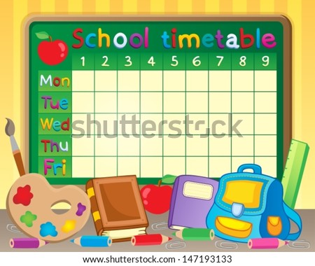 School Timetable Stock Photos, Royalty-Free Images & Vectors ...