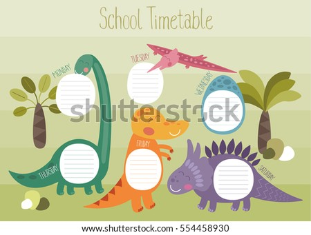 Timetable Images RoyaltyFree Images Vectors – School Time Table Designs