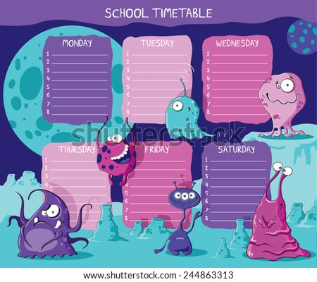 School Timetable Images RoyaltyFree Images Vectors – School Time Table Designs