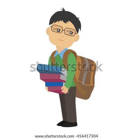 schoolboy - stock vector
