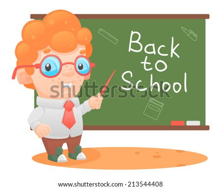 schoolboy school pupil education school board - stock vector