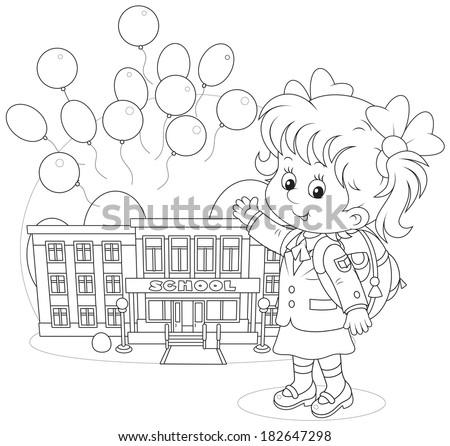 Schoolgirl - stock vector