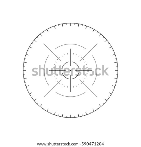 Sci-fi futuristic crosshair for user interface. Techno target screen elements. Vector illustration isolated on white background