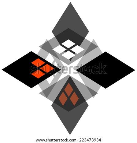 Sci-Fi Star Logo - stock vector