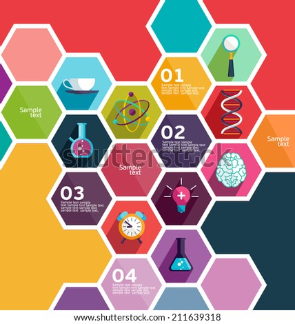 Science and Education. Flat design - stock vector