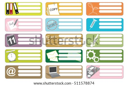 Science and industry icon symbol business, sticker item print for short note graphic design and clipping paths.