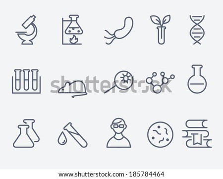 science and research  icons - stock vector