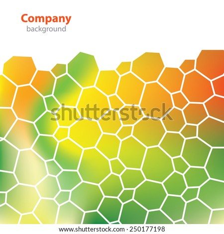 Science and Research - molecular structure - abstract background - stock vector