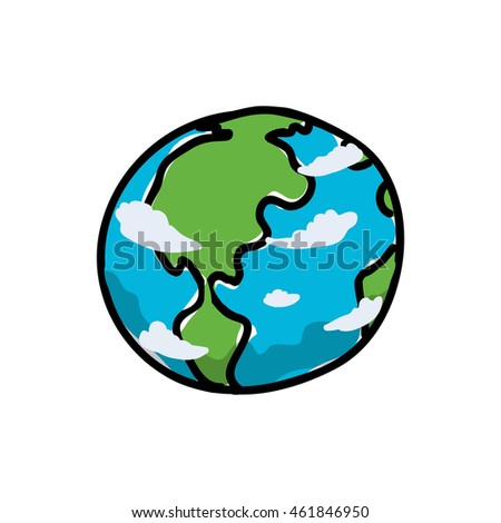 Science and space concept represented by planet icon. Isolated and sketch illustration