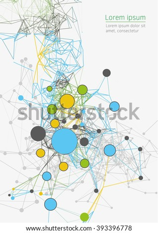 Science and  technology abstract background vector illustration. - stock vector
